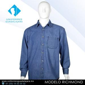 Richmond - Camisas de mezclilla uniformes