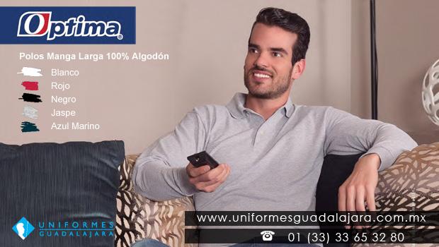 Playeras Polos de Manga Larga 100% algodón Uniformes Guadalajara