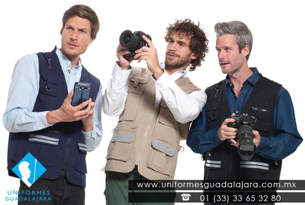 Chaleco para reportero fotografo - Uniformes Guadalajara